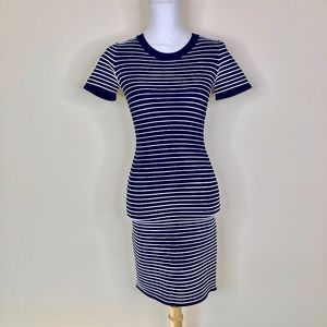 Michael Michael Kors Bodycon Navy Striped Dress